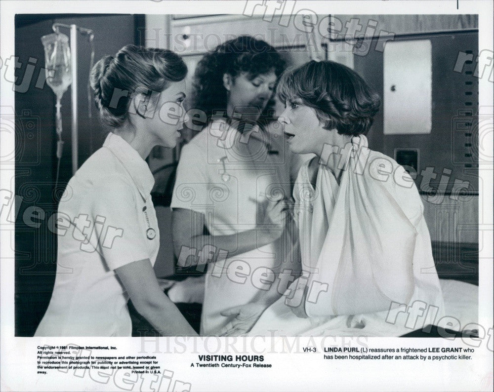 1981 Actors Linda Purl & Oscar Winner Lee Grant in Film Press Photo adz139 - Historic Images