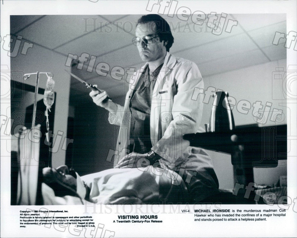 1981 Canadian Actor Michael Ironside in Film Visiting Hours Press Photo adz141 - Historic Images