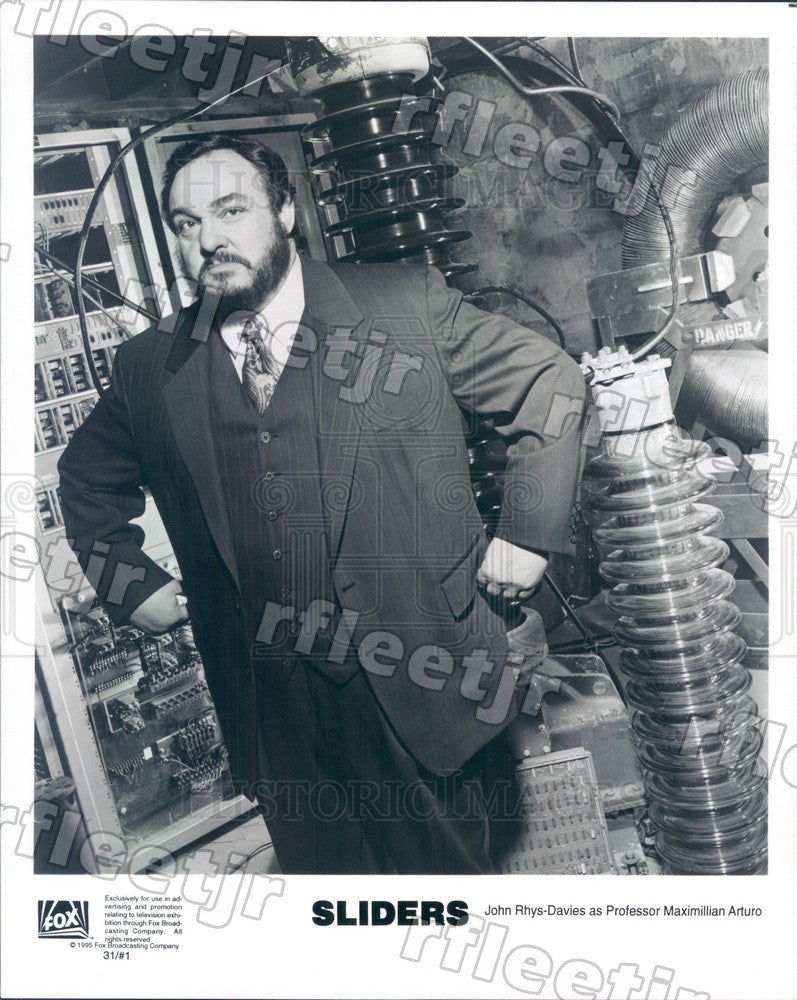 1995 Welsh Actor John Rhys-Davies on TV Show Sliders Press Photo adz149 - Historic Images