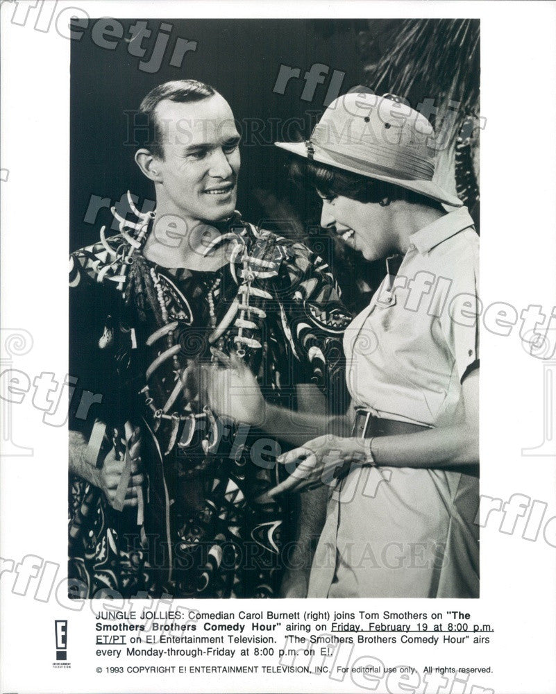 1993 Emmy Winning Actor Carol Burnett & Tom Smothers Press Photo adz163 - Historic Images