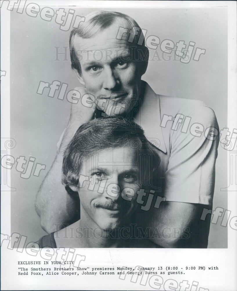 Undated Comedians The Smothers Brothers, Tom & Dick Press Photo adz169 - Historic Images