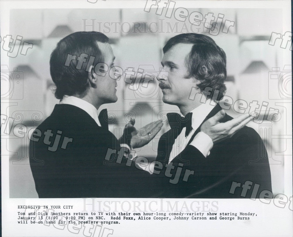 Undated Comedians The Smothers Brothers, Tom & Dick Press Photo adz173 - Historic Images
