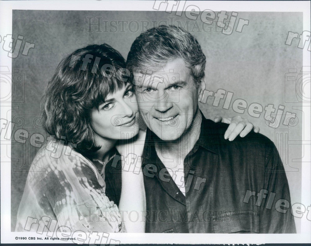 1990 Actors Don Murray & Lisa Blount on Sons And Daughters Press Photo adz179 - Historic Images