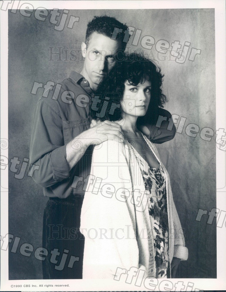 1990 Actors Rick Rossovich & Peggy Smithhart on TV Show Press Photo adz183 - Historic Images
