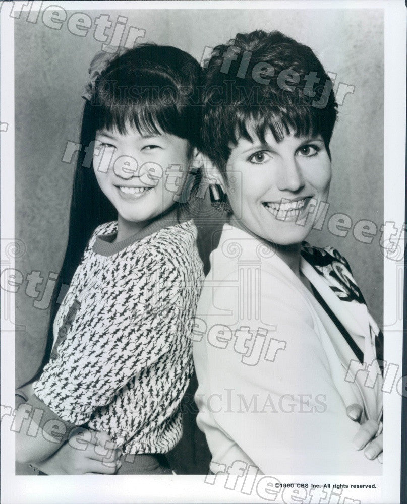 1990 Actors Lucie Arnaz & Michelle Wong on TV Show Press Photo adz185 - Historic Images