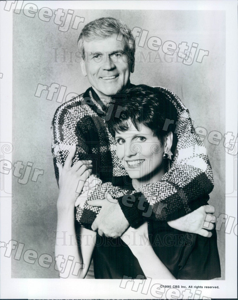 1990 Actors Lucie Arnaz & Don Murray on Sons And Daughters Press Photo adz189 - Historic Images