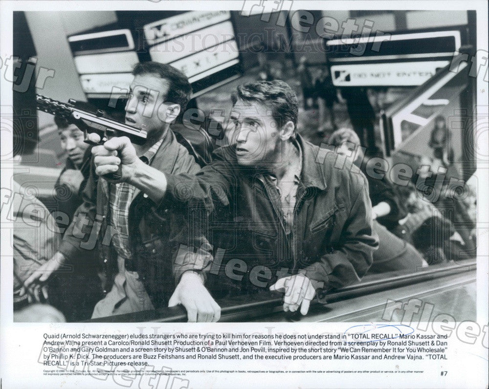 1990 Actor Arnold Schwarzenegger in Film Total Recall Press Photo adz19 - Historic Images