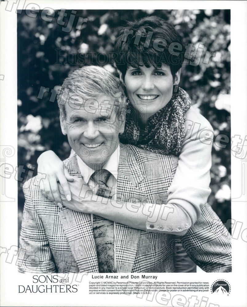 1990 Actors Lucie Arnaz & Don Murray on Sons And Daughters Press Photo adz191 - Historic Images