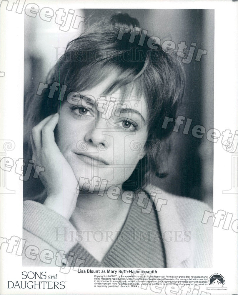 1990 Actress Lisa Blount on TV Show Sons And Daughters Press Photo adz195 - Historic Images
