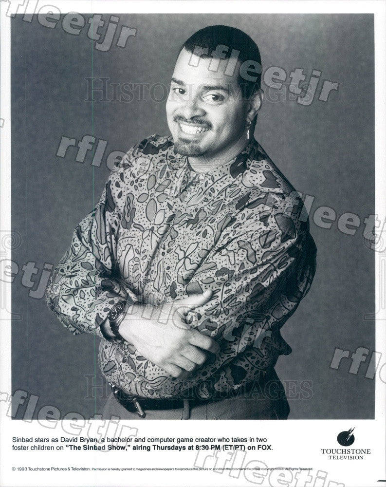 1993 Actor Sinbad on TV Show The Sinbad Show Press Photo adz221 - Historic Images