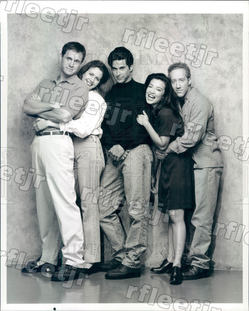 1995 Actors Mark Moses, Jessica Hecht, Jonathan Silverman Press Photo adz229 - Historic Images