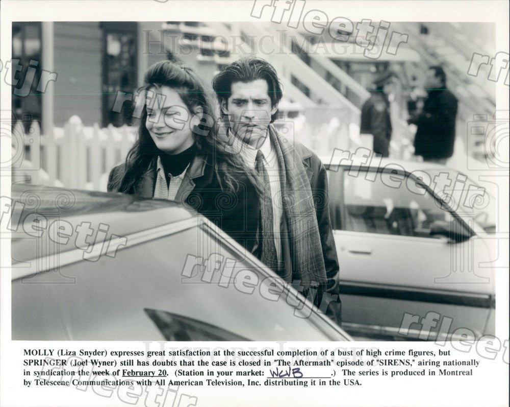 Undated Actors Liza Snyder & Joel Wyner on TV Show Sirens Press Photo adz241 - Historic Images