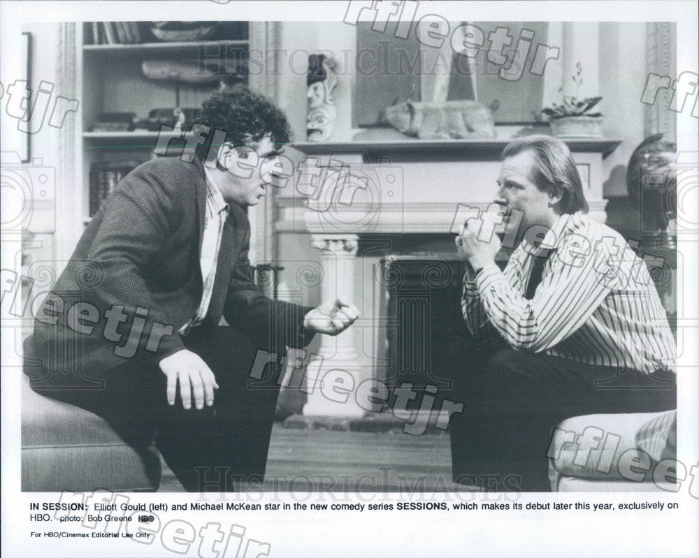 Undated Actors Elliott Gould & Michael McKean on Sessions Press Photo adz247 - Historic Images