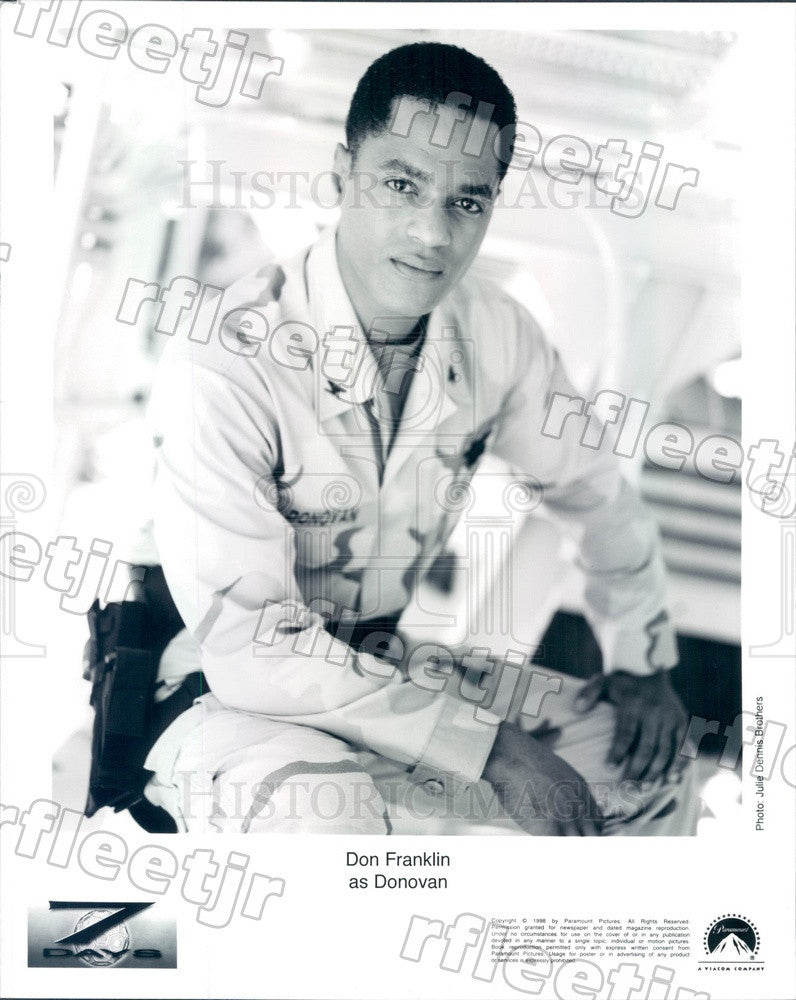 1998 American Actor Don Franklin on TV Show Seven Days Press Photo adz265 - Historic Images