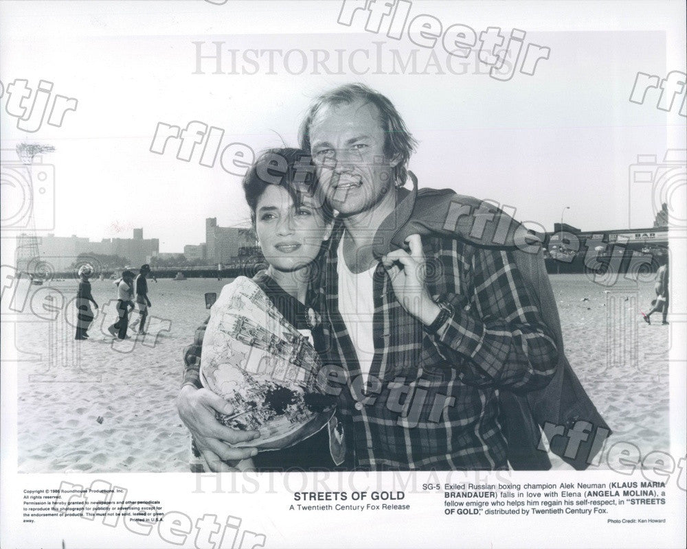 1986 Actors Klaus Maria Brandauer & Angela Molina Press Photo adz273 - Historic Images