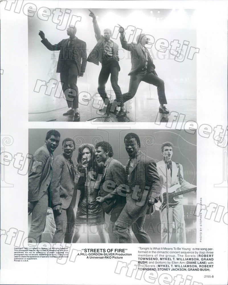 1984 Actors Diane Lane, Mykel Williamson, Robert Townsend Press Photo adz275 - Historic Images