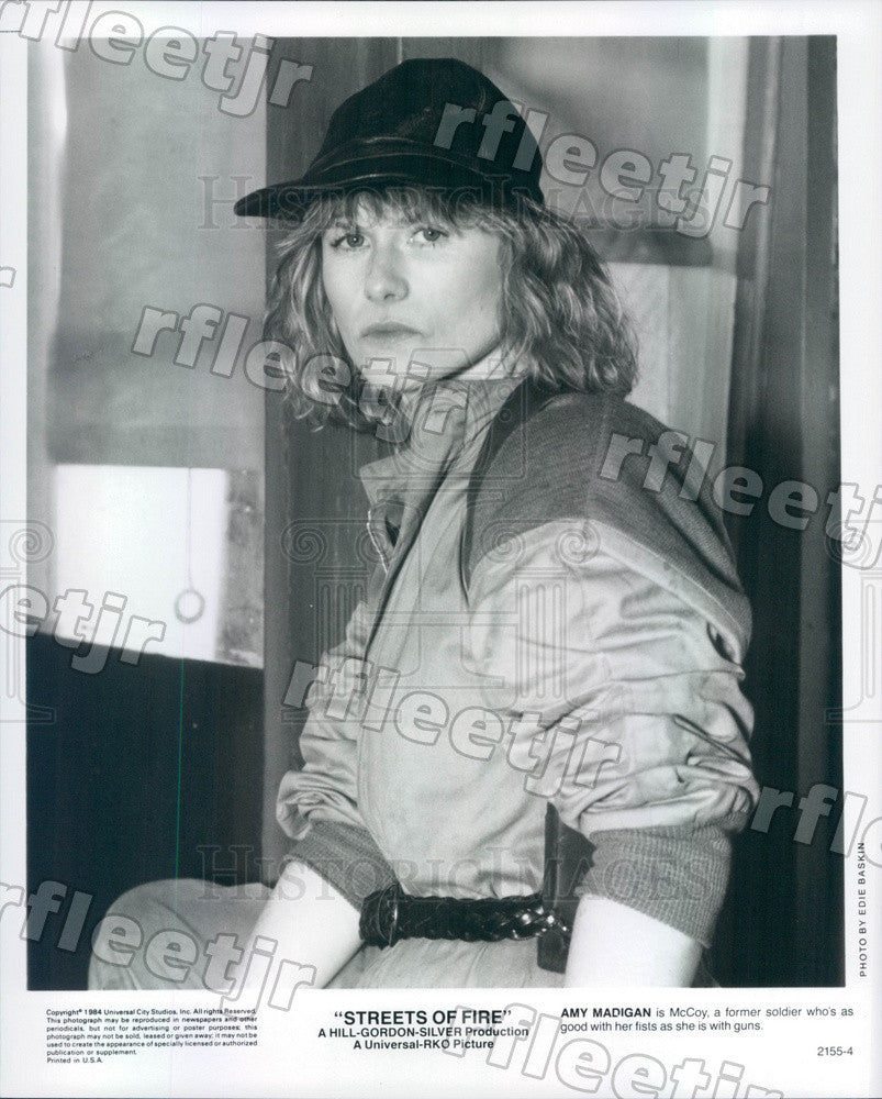 1984 American Actress Amy Madigan in Film Streets of Fire Press Photo adz283 - Historic Images