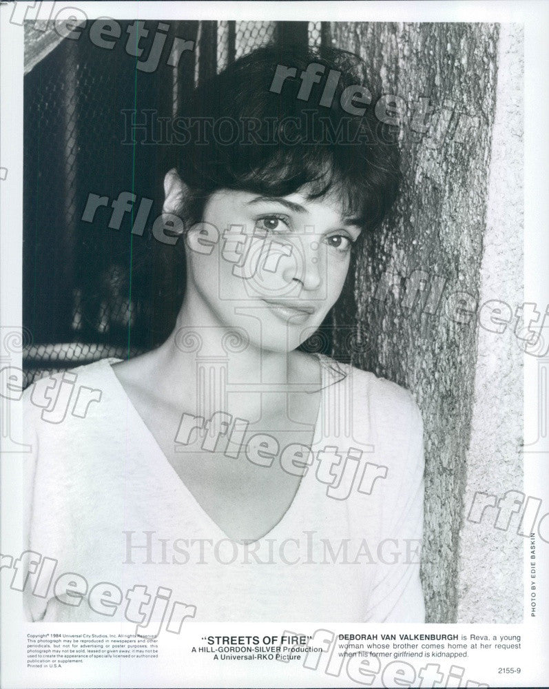 1984 Actress Deborah Van Valkenburgh in Film Streets of Fire Press Photo adz285 - Historic Images