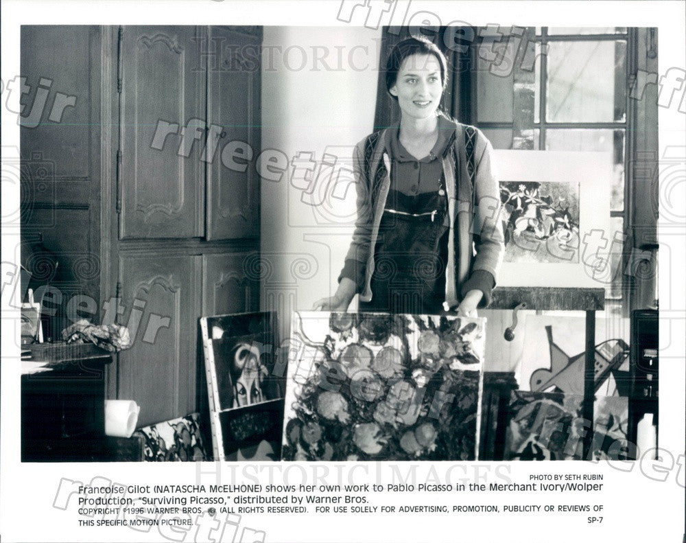 1996 British Actress Natascha McElhone in Surviving Picasso Press Photo adz287 - Historic Images