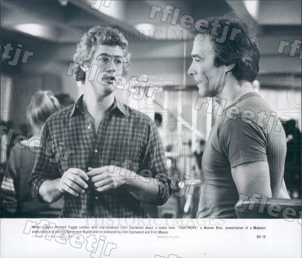 1984 Oscar Winning Actor Clint Eastwood & Dir Richard Tuggle Press Photo adz29 - Historic Images