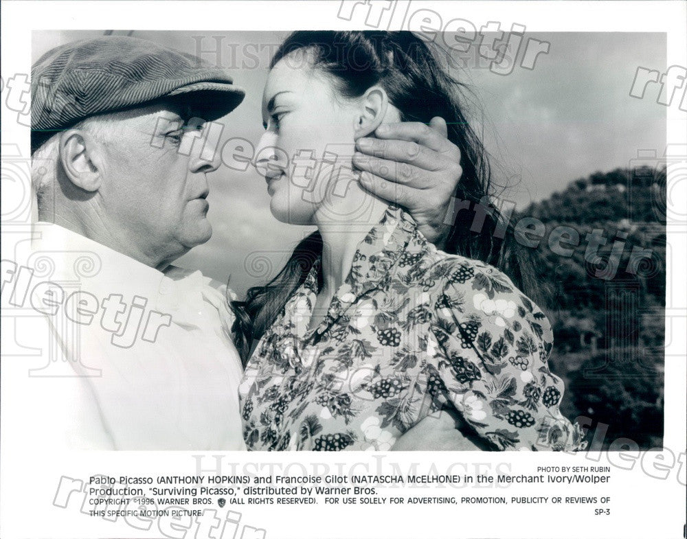 1996 Oscar Winning Actor Anthony Hopkins & Natascha McElhone Press Photo adz291 - Historic Images