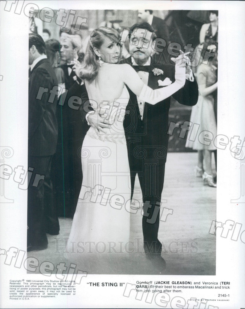 1983 Actors Jackie Gleason & Teri Garr in Film The Sting II Press Photo adz299 - Historic Images