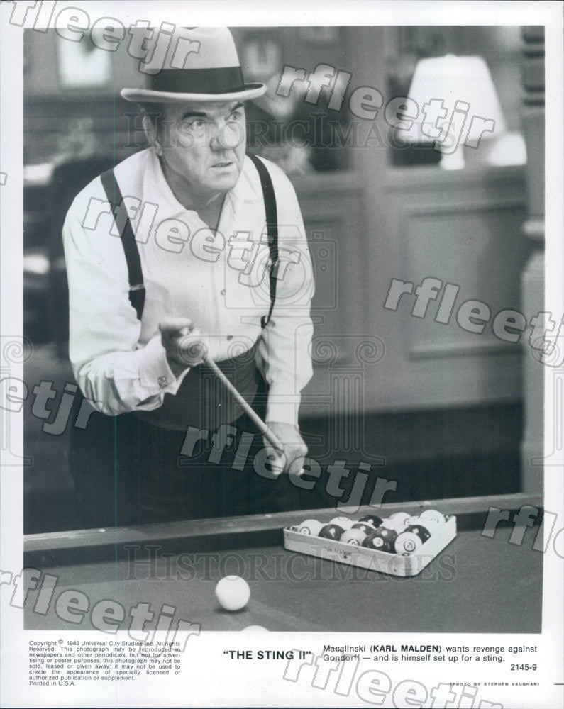 1983 Oscar, Emmy Winning Actor Karl Malden in The Sting II Press Photo adz301 - Historic Images