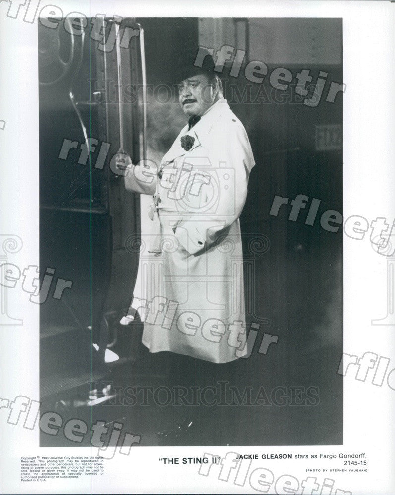 1983 Hollywood Actor Jackie Gleason in Film The Sting II Press Photo adz303 - Historic Images