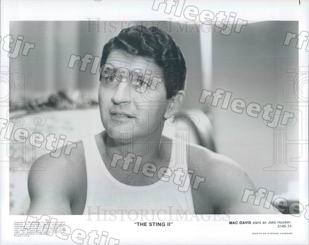 1983 Actor, Country Singer Mac Davis in Film The Sting II Press Photo adz305 - Historic Images