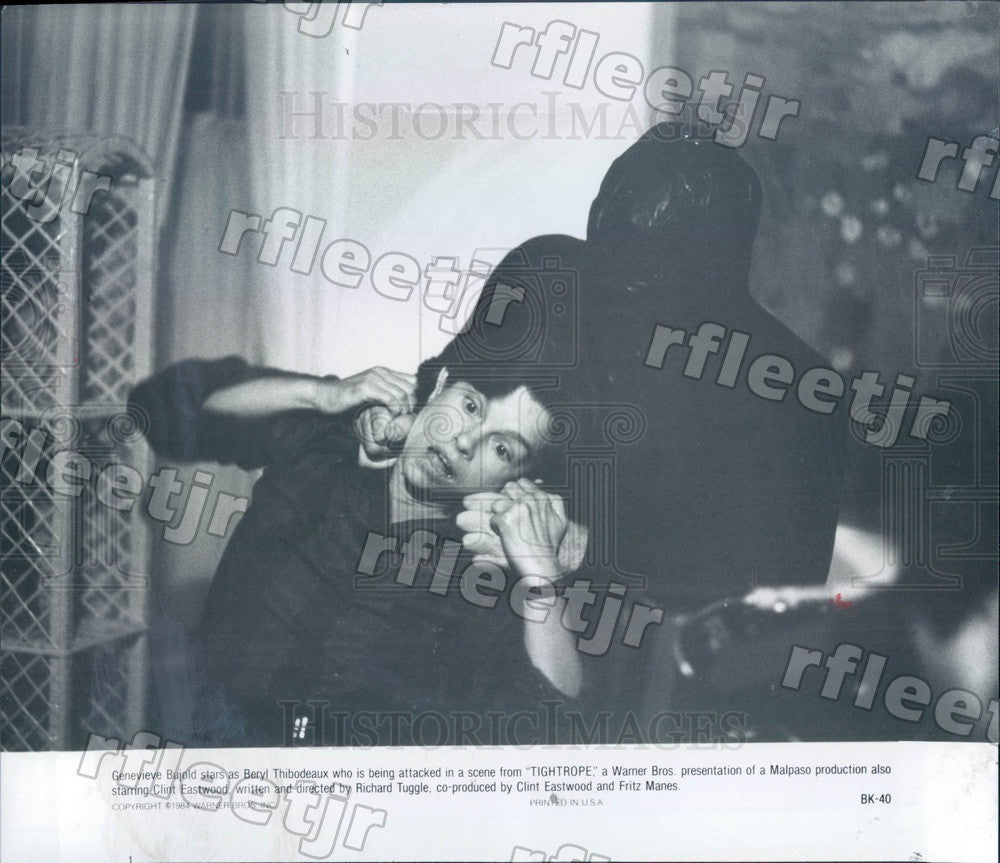 1984 Canadian Actress Genevieve Bujold in Film Tightrope Press Photo adz31 - Historic Images