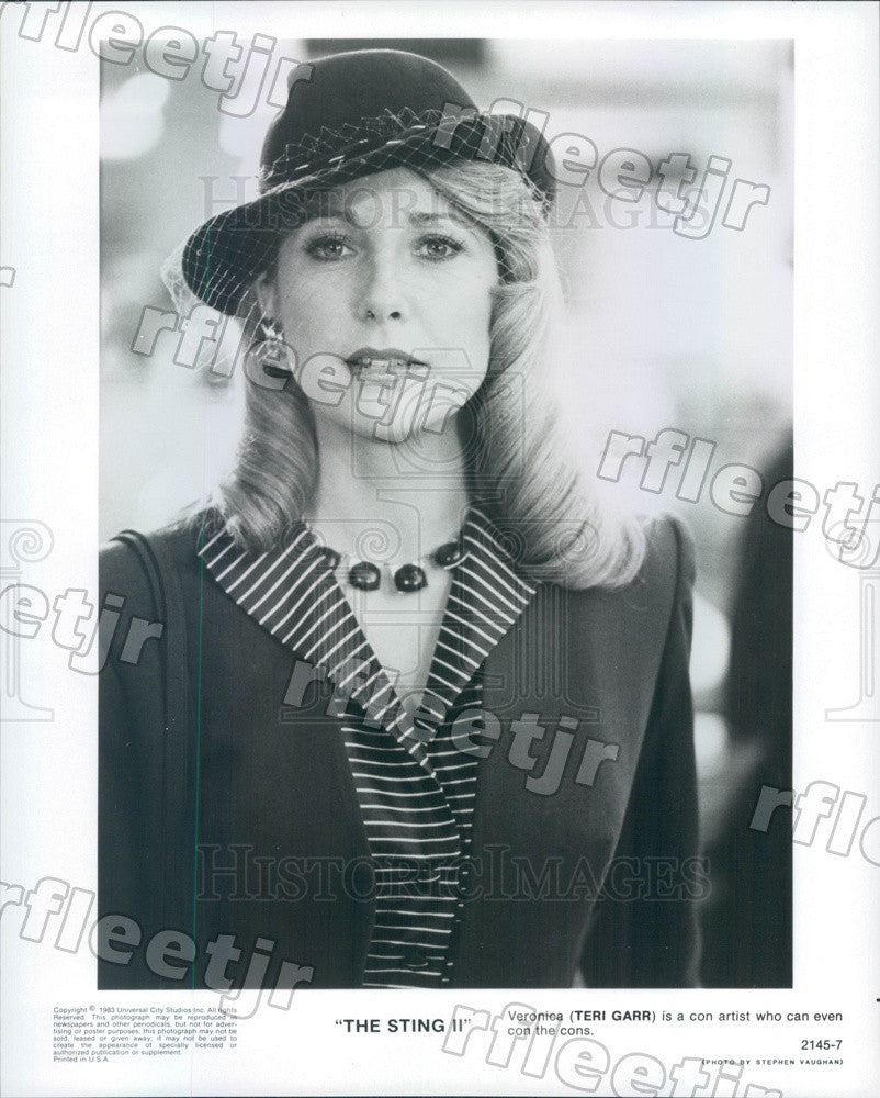 1983 American Actress Teri Garr in Film The Sting II Press Photo adz311 - Historic Images
