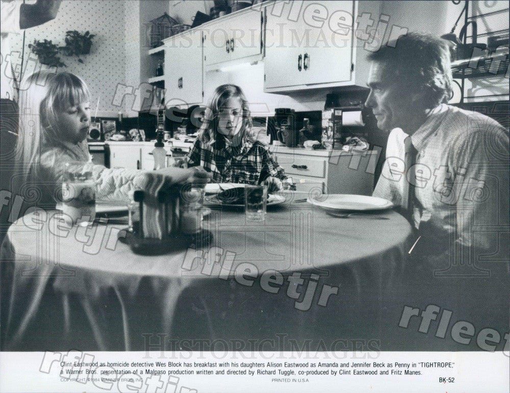 1984 Oscar Winning Actor Clint Eastwood, Alison Eastwood Press Photo adz33 - Historic Images