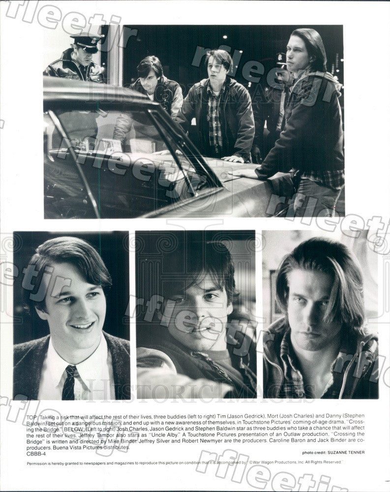 1992 Actors Jason Gedrick, Josh Charles, Stephen Baldwin Press Photo adz335 - Historic Images