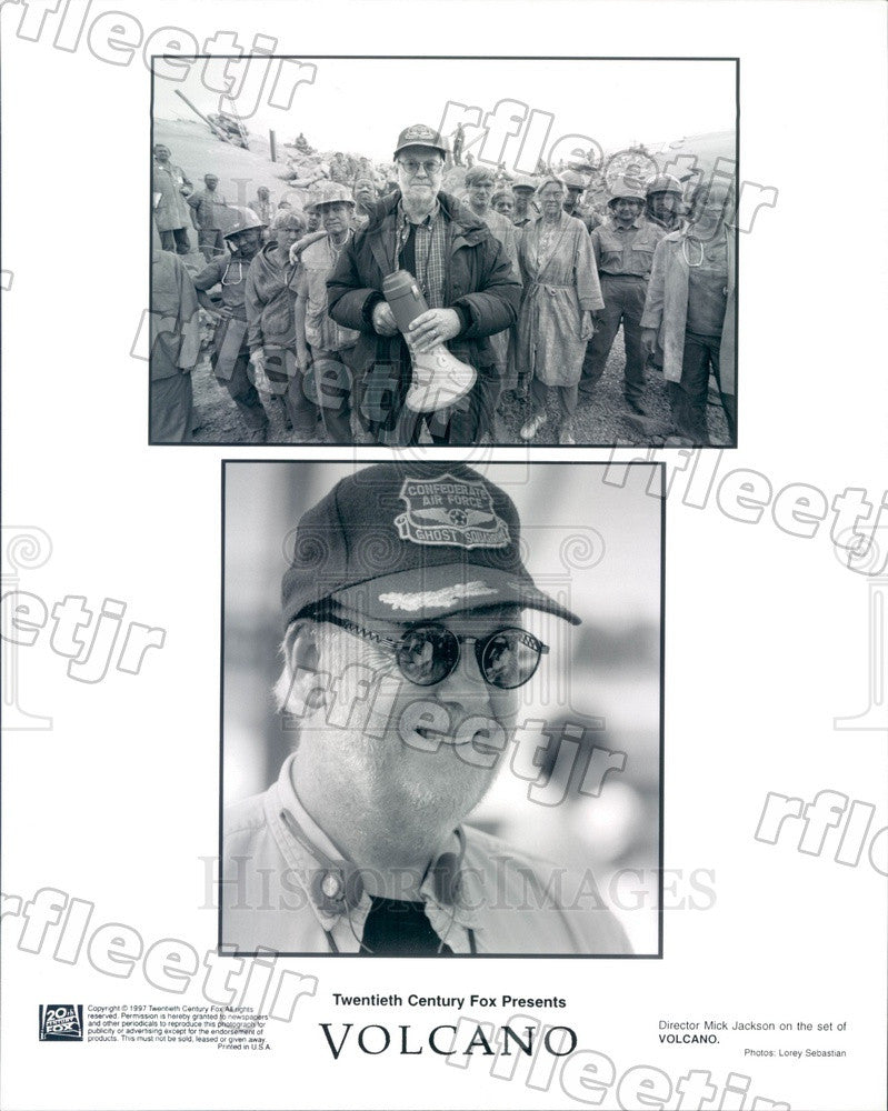 1997 British Director Mick Jackson Filming Volcano Press Photo adz351 - Historic Images