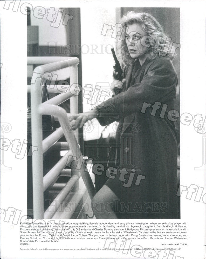 1991 American Actress Kathleen Turner in Film Warshawski Press Photo adz357 - Historic Images