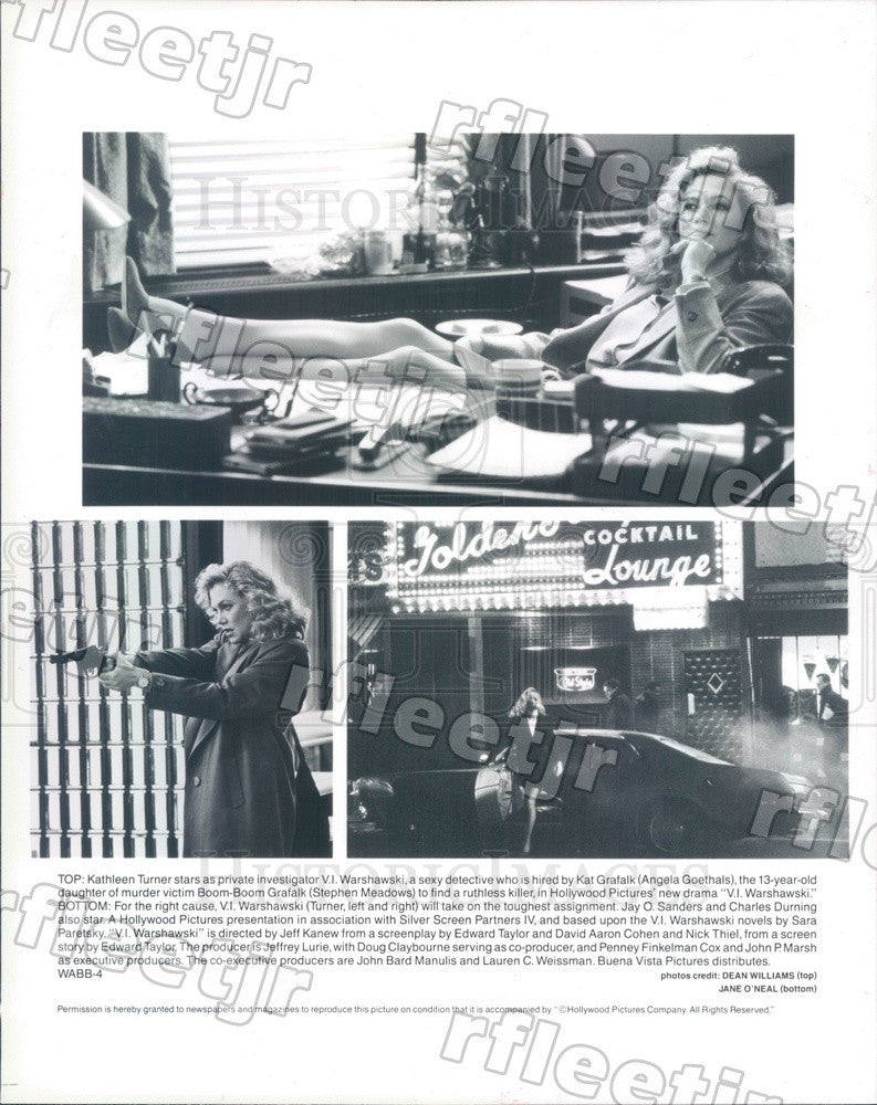 1991 American Actress Kathleen Turner in Film Warshawski Press Photo adz359 - Historic Images