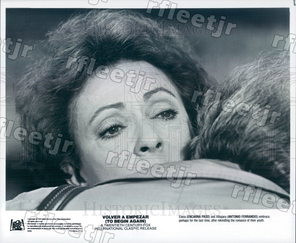 1983 Actors Encarna Paso & Antonio Ferrandis Press Photo adz363 - Historic Images