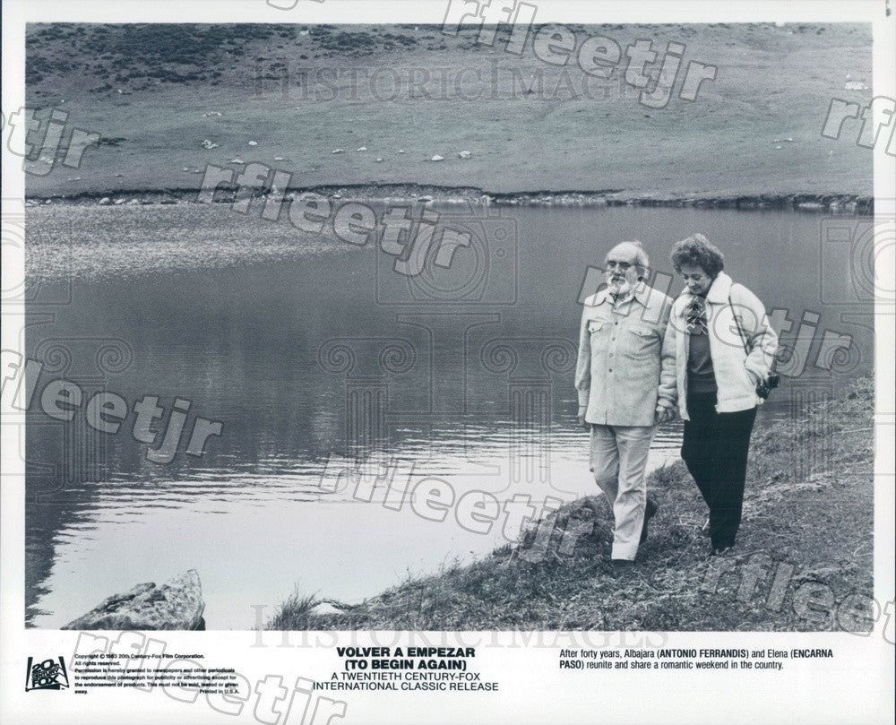 1983 Actors Encarna Paso & Antonio Ferrandis Press Photo adz365 - Historic Images