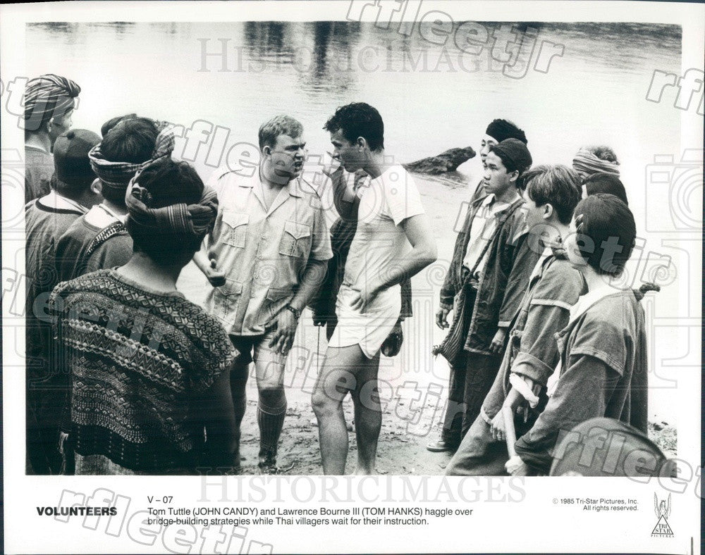 1985 Oscar Winning Actor Tom Hanks & John Candy in Volunteers Press Photo adz371 - Historic Images