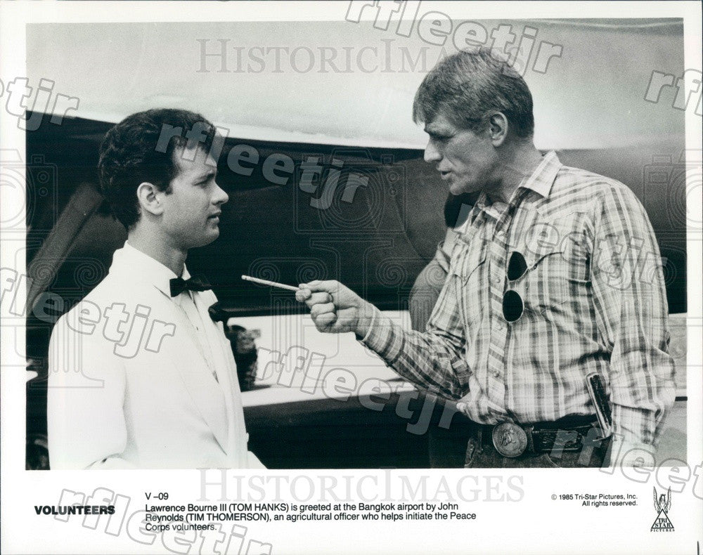 1985 Oscar Winning Actor Tom Hanks & Tim Thomerson Press Photo adz381 - Historic Images