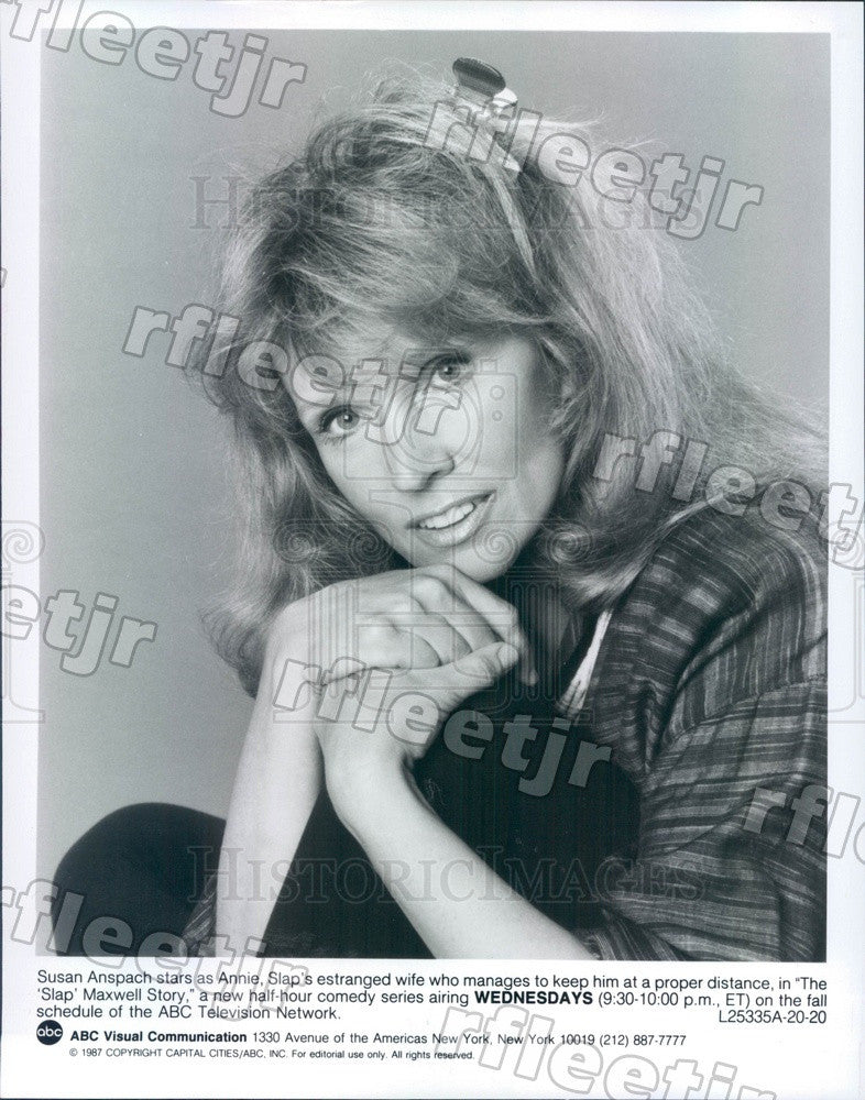 1987 Actress Susan Anspach on TV Show The Slap Maxwell Story Press Photo adz387 - Historic Images