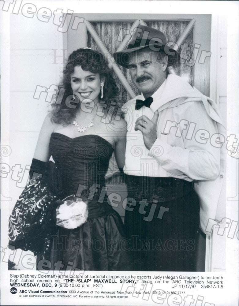 1987 Actors Dabney Coleman & Megan Gallagher on TV Show Press Photo adz391 - Historic Images
