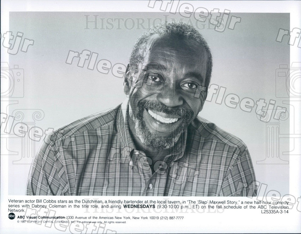 1987 Actor Bill Cobbs on TV Show The Slap Maxwell Story Press Photo adz393 - Historic Images