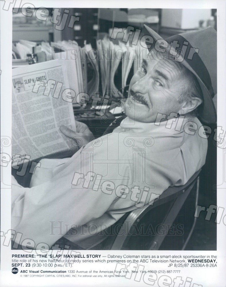 1987 Actor Dabney Coleman on TV Show The Slap Maxwell Story Press Photo adz399 - Historic Images