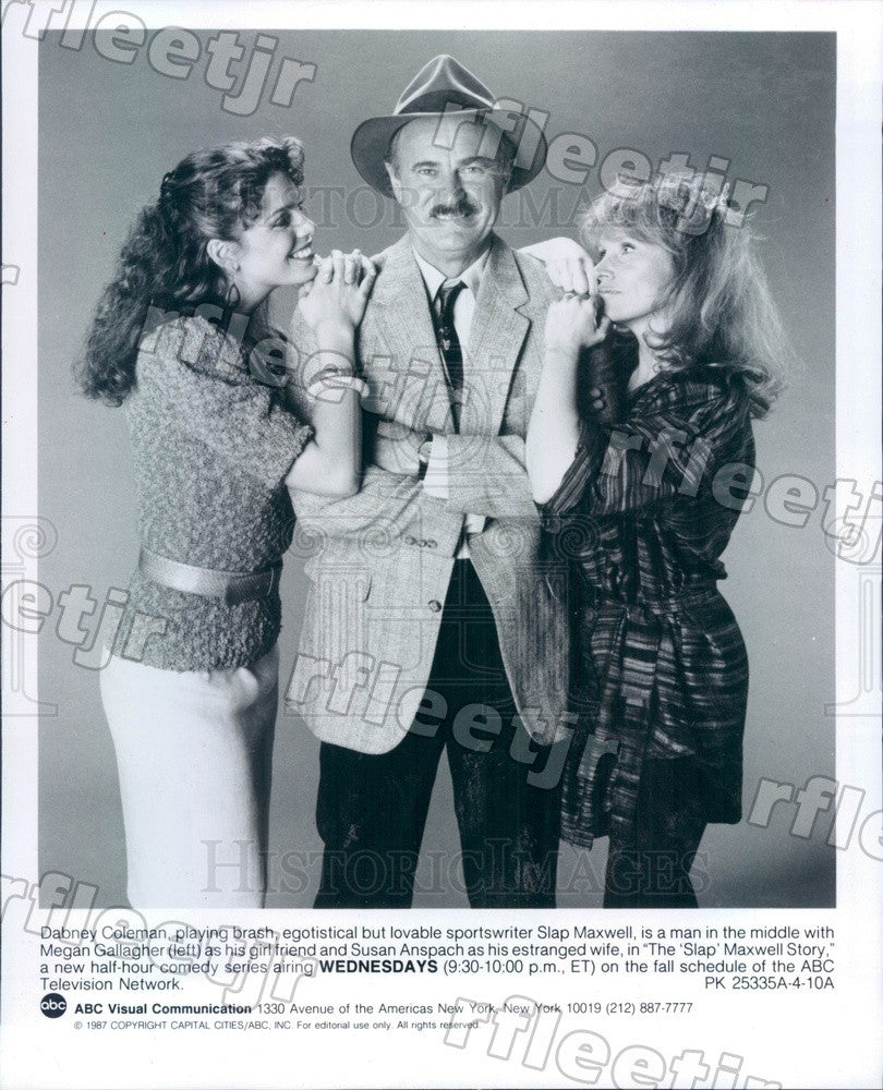 1987 Actors Dabney Coleman, Megan Gallagher, Susan Anspach Press Photo adz403 - Historic Images