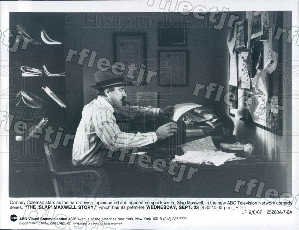 1987 Actor Dabney Coleman on TV Show The Slap Maxwell Story Press Photo adz407 - Historic Images