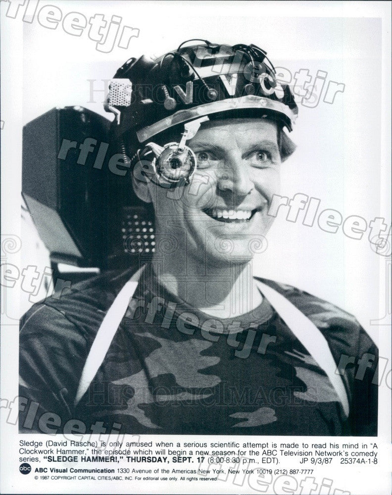 1987 Hollywood Actor David Rasche on TV Show Sledge Hammer! Press Photo adz415 - Historic Images