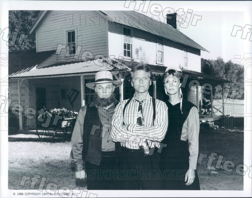 1986 Actors David Rasche, Lewis Arquette, Ann Ryerson Press Photo adz435 - Historic Images