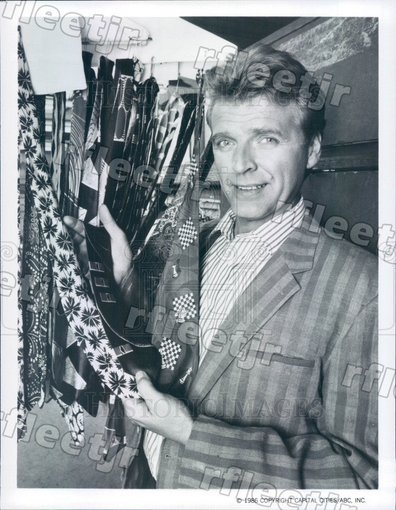 1986 American Actor David Rasche on TV Show Sledge Hammer! Press Photo adz437 - Historic Images