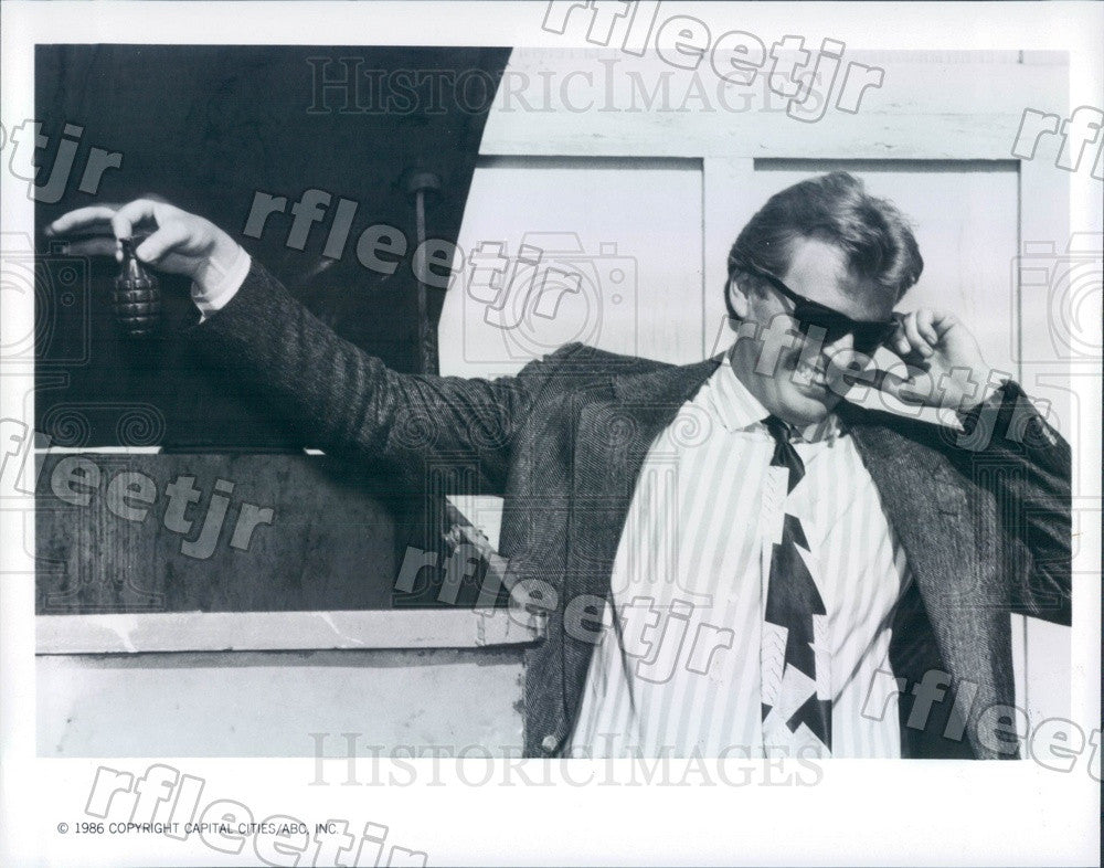 1986 American Actor David Rasche on TV Show Sledge Hammer! Press Photo adz441 - Historic Images